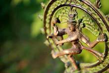 Statue Of Shiva Nataraja - Lord Of Dance At Sunlight