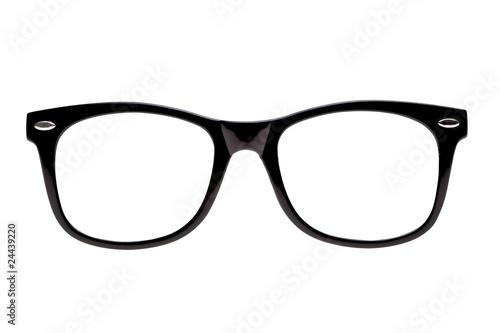 Fotografía Photo black nerd spectacle frames, just add geek!