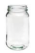 Leinwanddruck Bild - Empty glass jar isolated on a white background