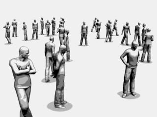 3d crowd illustration
