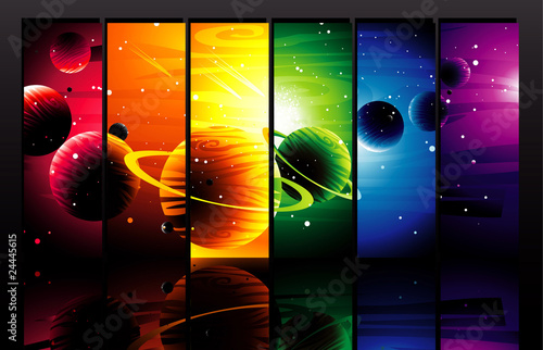 Kolorowe planety