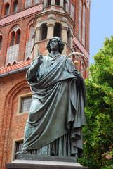 Fototapeta Nicolaus Copernicus monument in Torun