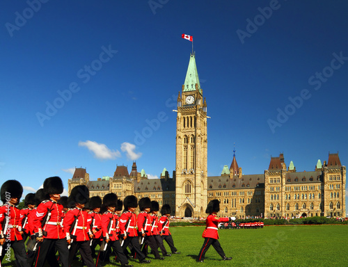 Poster de jardin Canada Changing of the guard