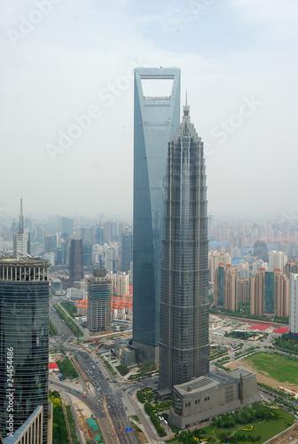 Cityscape of Shanghai Poster