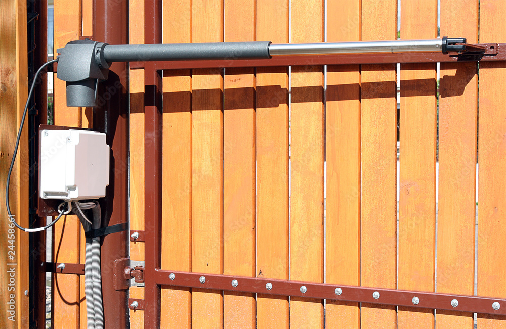Fototapeta The device for automatic opening/closing a gate