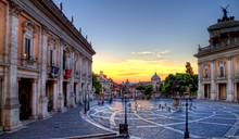 Roma Campidoglio Vista Panoramica Hdr