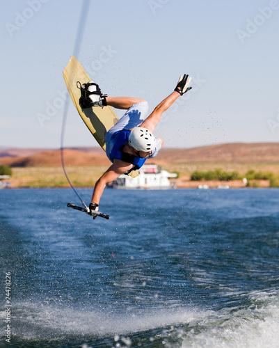 Man wakeboarding at Lake Powell 13 Wall mural