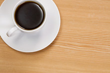 Coffee At Wood Table