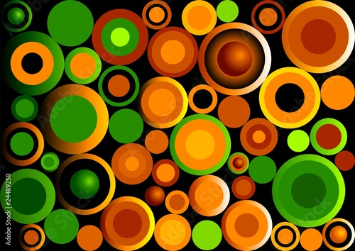 retro-circles-green-i-orange