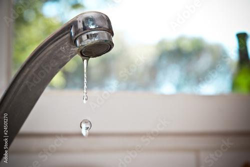 Leinwand Poster fuite d'eau