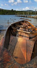 Small Wooden Boat On The Derwent