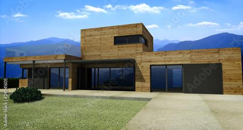 Photo  Maison contemporaine ossature bois