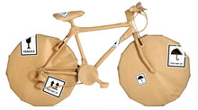 Bike,bicycle Wrapped In Brown ...