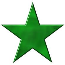 3D Green Star