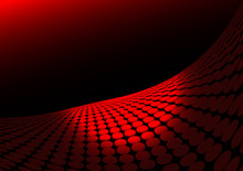 Red Abstract  Vector Doted Surface Lighted