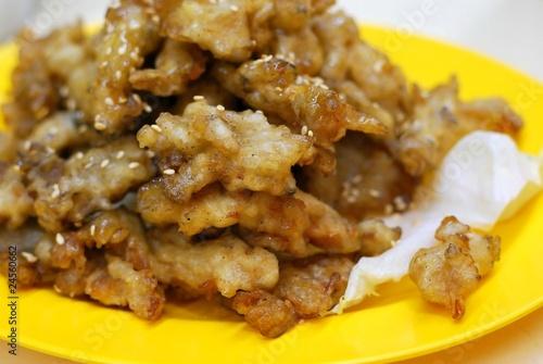Foto op Aluminium Kip Deep fried mushroom delicacy