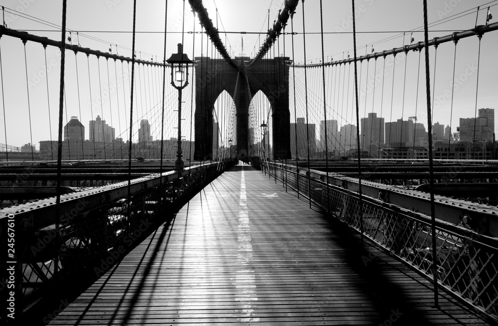 Fototapety, obrazy: Most Brookliński, Manhattan, Nowy Jork, USA