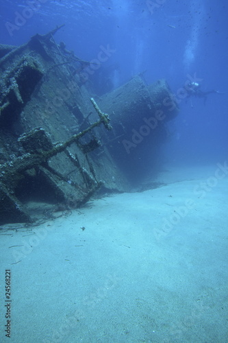Foto op Canvas Schipbreuk relitto nave affondata