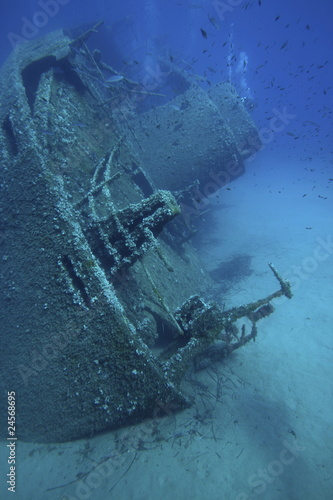 Foto op Canvas Schipbreuk nave affondata
