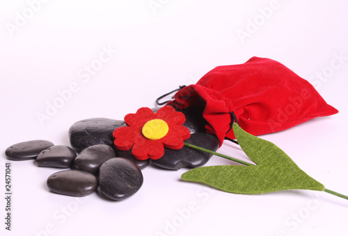 Printed kitchen splashbacks Flower shop Massage stones