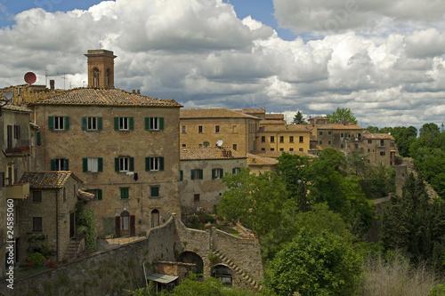Poster Taupe Historische Altstadt von Volterra