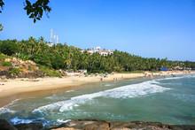 Tropical Beach In Kovalam, Kerala, India
