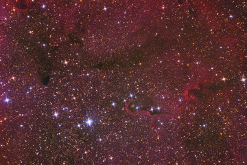 Hydrogen Nebula IC-1396, closeup. Lot of Milky Way stars.