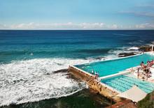 Ocean Water Swimming Pool At Bondi Beach In Sydney, Australia