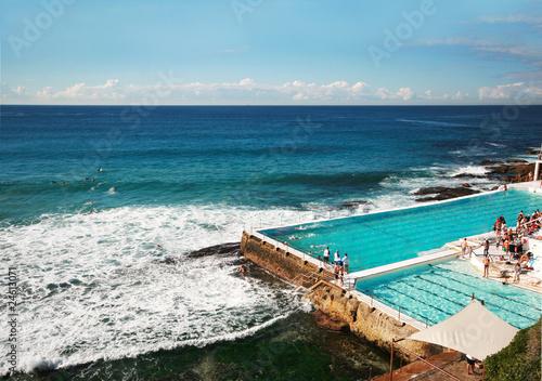 Garden Poster Sydney Ocean water swimming pool at Bondi Beach in Sydney, Australia