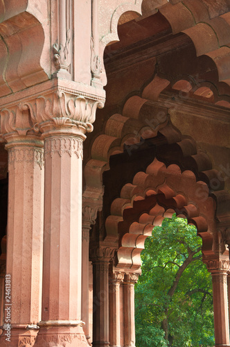 Printed kitchen splashbacks Delhi Traditional Indian Architecture at the Red Fort in Delhi, India.