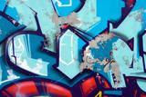 Fototapeta Młodzieżowe - Blue arrows graffiti