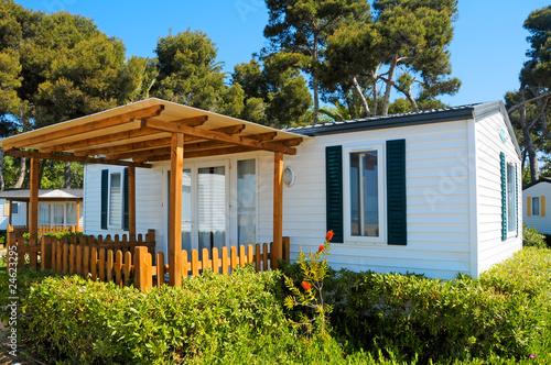 In de dag Kamperen mobile home