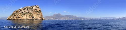 Benidorm panoramic view from island