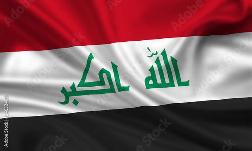 Flag of Iraq Irak Fahne Flagge Fototapet