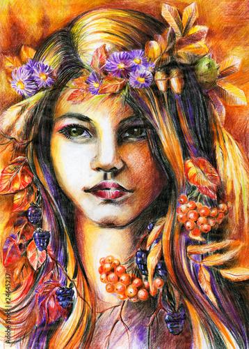 jesienna-dziewczynka-kolorowy-rysunek