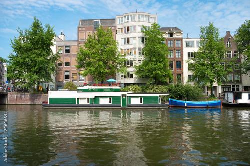 Photo  authentic amsterdam houses