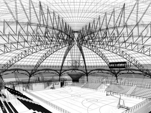 Obrazy sport  stadion-3d
