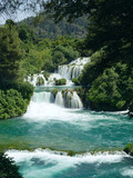 Waterfall in Krka Nationalpark Croatia