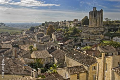 Carta da parati Rooftops of Saint Emilion - A Unesco World Heritage Site.