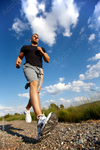Leinwand Poster Mann beim Joggen