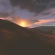 Abendhimmel im Gebirge