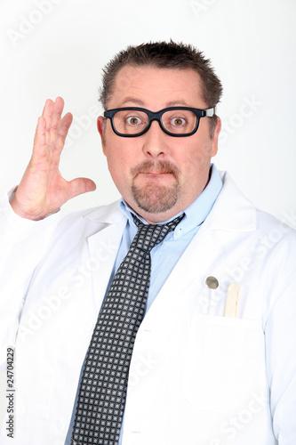 Photo Portrait d'un médecin excentrique
