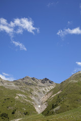 Moräne eines abgetauten Gletschers Nähe Scarljoch