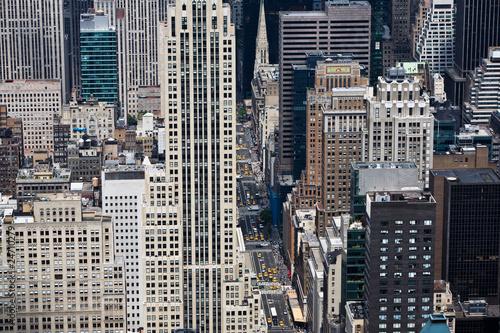 Skyline von New York City  mit Hochhäusern