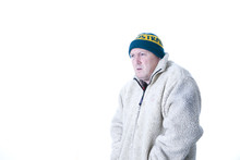 Man In Winter Coat And Hat