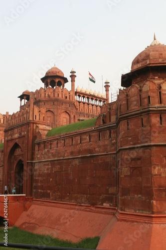 Stickers pour porte Delhi Famous Red Fort in Delhi India