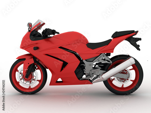 Photo  Rec concept motorbike on white background