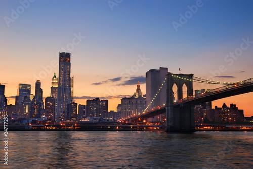 Fototapeta premium Panoramę Manhattanu w Nowym Jorku