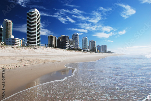 Surfers paradise beach on Goldcoast, Queensland, Australia