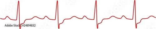 Heartbeat, heart monitor Fototapet